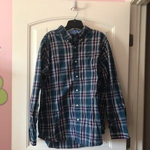 Chaps Ls Plaid Button Up Shirt